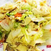 肉片炒白菜干豆腐胡萝卜
