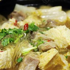 泡菜冻豆腐牛肉汤
