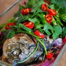 香葱烤鲫鱼