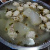 葱油冬瓜肉丸汤