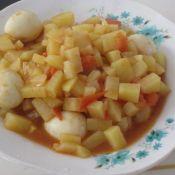 西红柿土豆炒鹌鹑蛋
