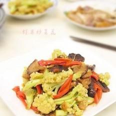虾米炒菜花