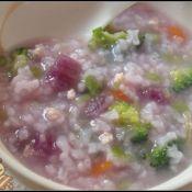 紫薯鲜蔬鸡肉粥
