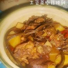土豆茶树菇炖咖喱鸡