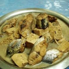 鲅鱼烧冻豆腐