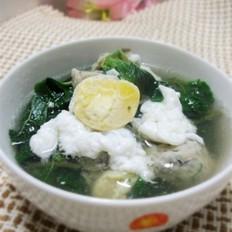 咸蛋鱼丸野苋菜汤