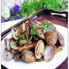 沙茶酱炒花蛤