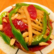 腊肠炒青椒土豆丝