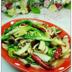 小白菜蟹味菇