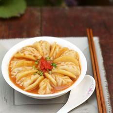 番茄土豆炖饺子