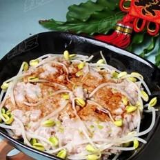黄豆芽蒸肉饼