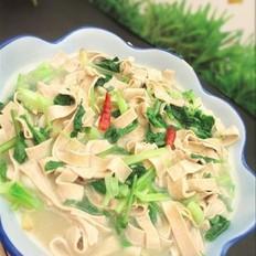 豆皮烧青菜