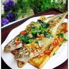 剁椒豆腐蒸鲅子鱼