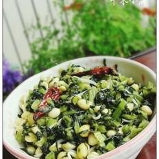 黄豆芽炒雪菜