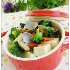 花蛤西花豆腐汤