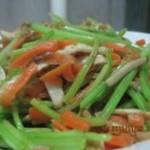 香干胡萝卜炒芹菜