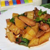 五香土豆焖鸡