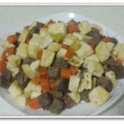豆腐牛肉丁