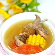 无花果玉米煲鹌鹑汤
