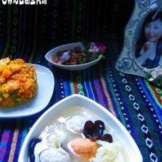 白菜油豆腐鱼丸汤