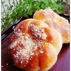 奶酥花环面包