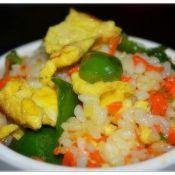 胡萝卜青椒鸡蛋炒饭