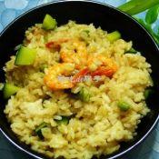 虾仁青豆饭