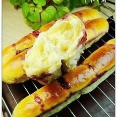 蓝莓果酱长排面包