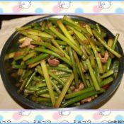 猪肉炒蒜苔