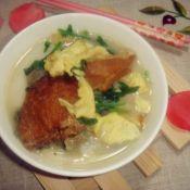 菠菜鸡蛋煲年糕