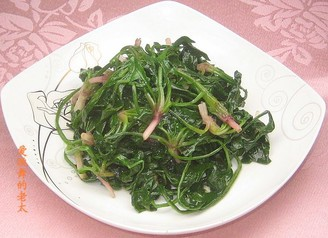 清炒菠菜的做法