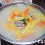 香葱木瓜排骨汤