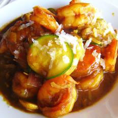 椰丝咖喱虾