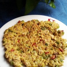 牛肉丁蔬菜饼