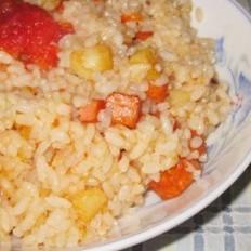 土豆西红柿炒饭