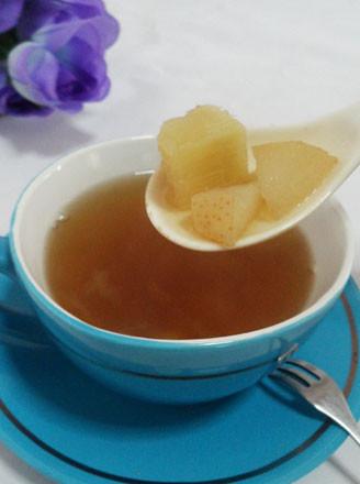 银耳香梨甘蔗罗汉果蜂蜜茶的做法