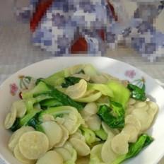 绿豆饼炒青菜