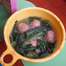 菠菜羊肉丸子汤