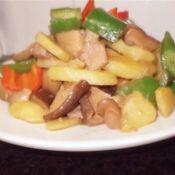 杂炒土豆冬菇