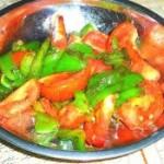 菜椒炒番茄