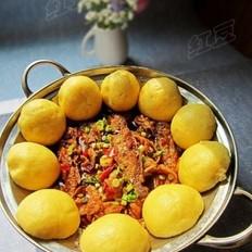 土锅鱼贴玉米饼