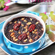 紫米核桃紅棗甜粥