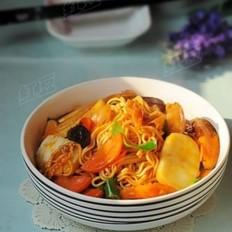 韩式泡菜拉面炒年糕