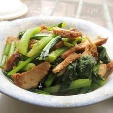 咸猪肉炒油菜