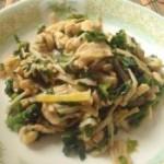 金针菇菠菜炒鸡柳