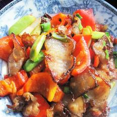 红椒炒腊五花肉