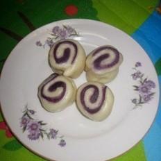 紫薯白面卷