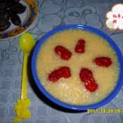 红枣红薯小米粥