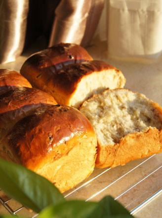 蜜红豆提子土司的做法