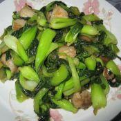 肉片炒油菜